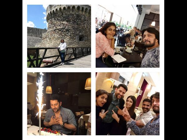 Sudeep and Priya celebrate the birthday of actor Aftab Shivdasani
