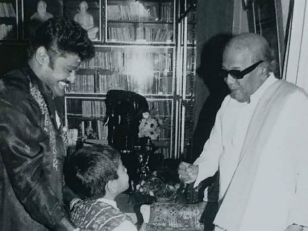 Jaggesh share Karunanidhi photo