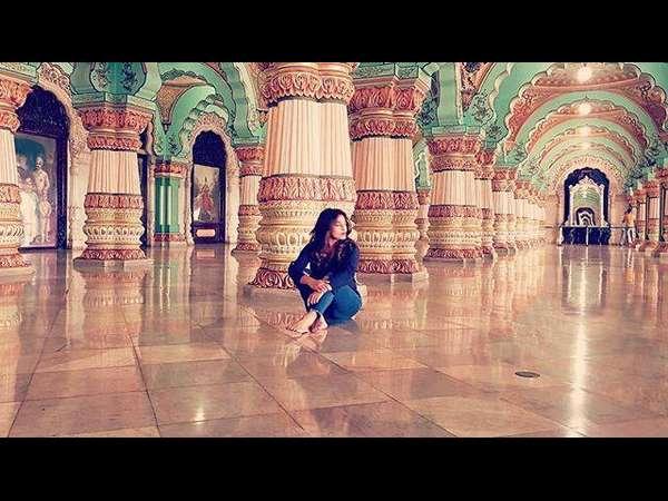 ಅರಮನೆಯ 'ದರ್ಬಾರ್' ಹಾಲ್ ನಲ್ಲಿ ಫೋಟೋ: ವಿವಾದಕ್ಕೆ ಸಿಲುಕಿದ ನಿಧಿ ಸುಬ್ಬಯ್ಯ