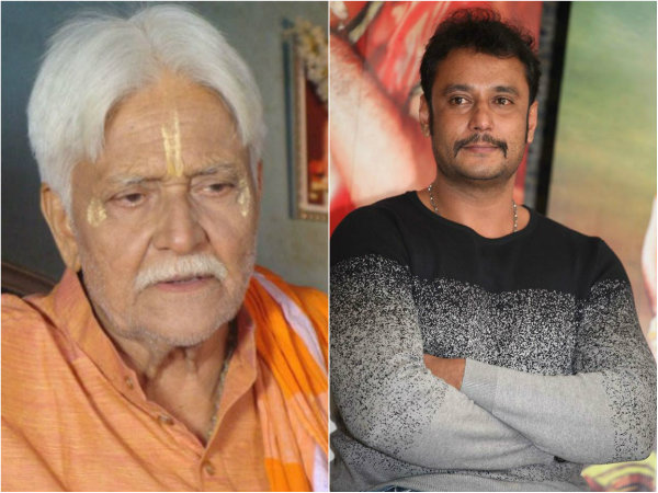 Darshan tweets about Actor Sadashiva Brahmavar demise