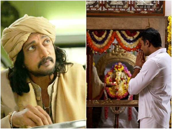 actor sudeep and darshans wishes for gowri ganesha festival