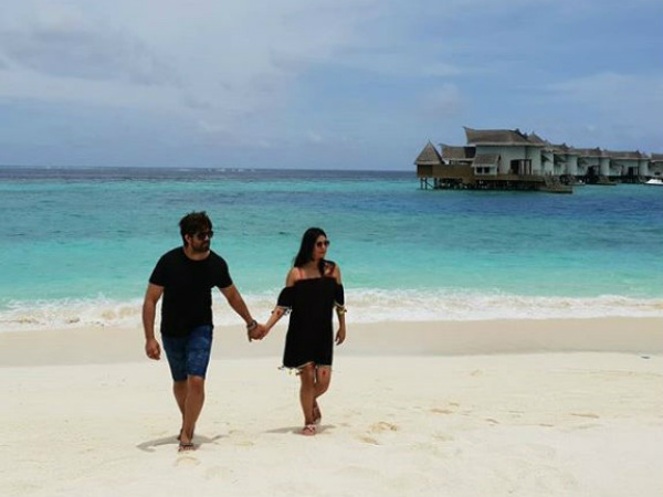In pic: Kannada Actress Radhika Pandit and Yash in Maldives for Babymoon