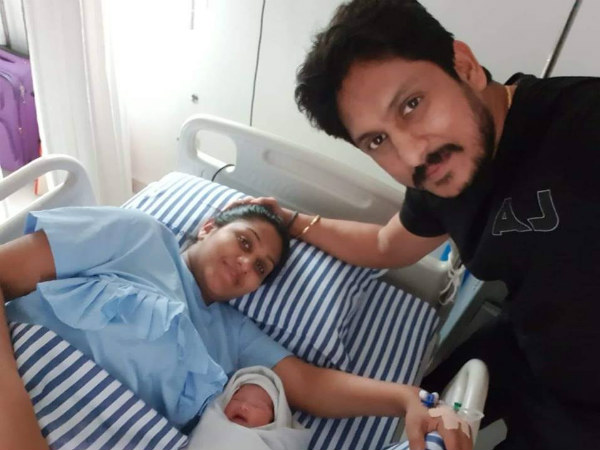 actor ajay rao wife swapna give birth to baby girl