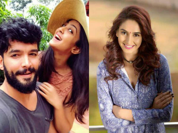 Ragini Dwivedi wishes Aindritha Ray and Diganth