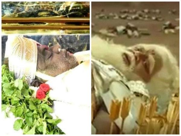ಮರಣಶಯ್ಯೆಯಲ್ಲಿ 'ಭೀಷ್ಮ' ಅಂಬಿ: 'ಕುರುಕ್ಷೇತ್ರ' ಚಿತ್ರದ ವಿಡಿಯೋ ಲೀಕ್.!