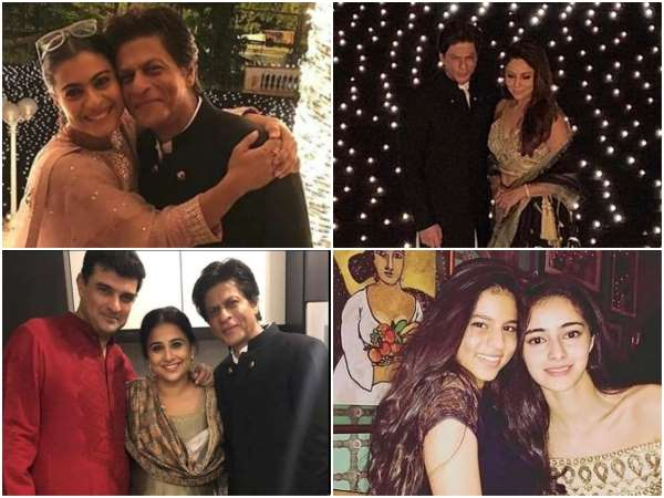 actor shahrukh khan celebrated diwali with his bollywood friends