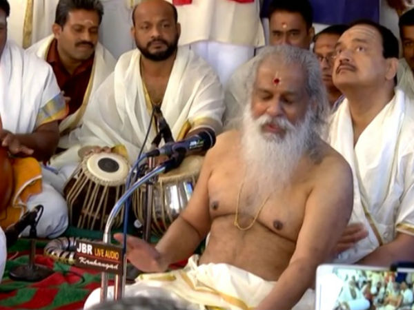 Yesudas celebrates his 79 the birthday in Kollur Mookambika Temple