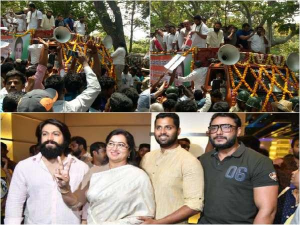 'ಜೋಡಿ ಎತ್ತು'ಗಳ ಅಬ್ಬರದ ಪ್ರಚಾರ: ಮಂಡ್ಯದಲ್ಲಿ ಅಂಬಿ ಪತ್ನಿ ಶಕ್ತಿ ಪ್ರದರ್ಶನ
