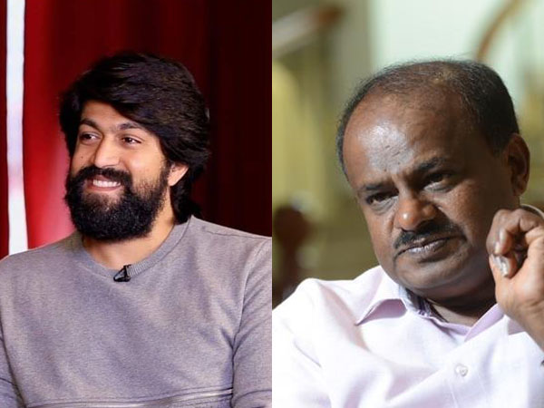 Hd kumaraswamy fire on yash