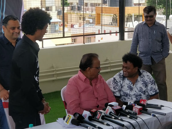 sp balasubrahmanyam inaugurated sadhu kokilas new music studio