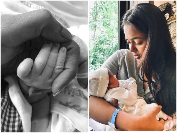 actress Sameera reddy blessed with baby girl