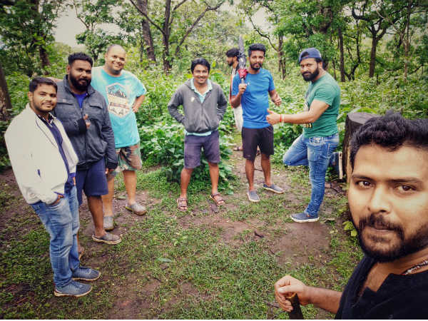 Rishab Shetty and his team searching for location in western ghat for Rudraprayaga film