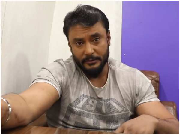 Challenging star Darshan open challenges to his fans for watching kurukshetra film