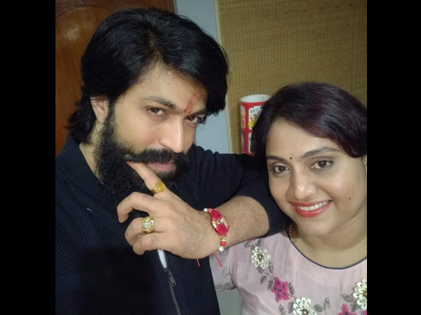 Kannada Actor Yash Sister Nandini Celebrated Raksha Bandhan