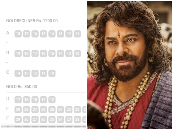 Megha Star Chiranjeevi Starrer Sye Raa Narasimha Reddy Ticket Rate Veary High In Bangalure