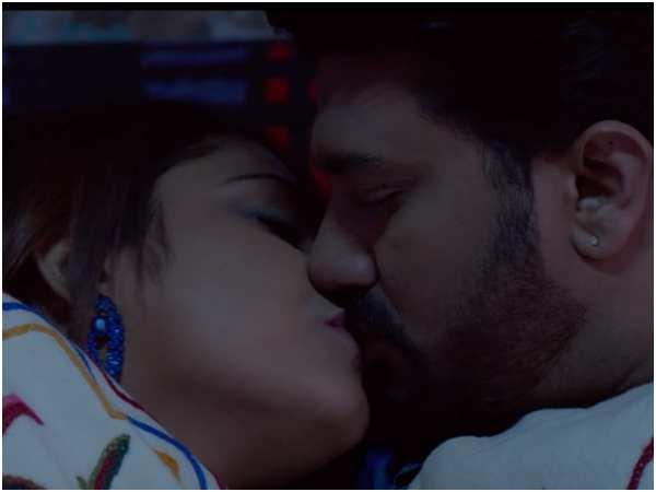 ಕಿಸ್ಸಿಂಗ್ ದೃಶ್ಯದಲ್ಲಿ ಸೃಜನ್ ಲೋಕೇಶ್ - ಹರಿಪ್ರಿಯಾ