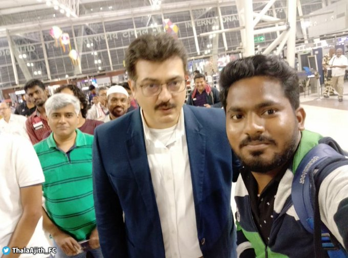 tamil actor ajith latest photo became viral in social media