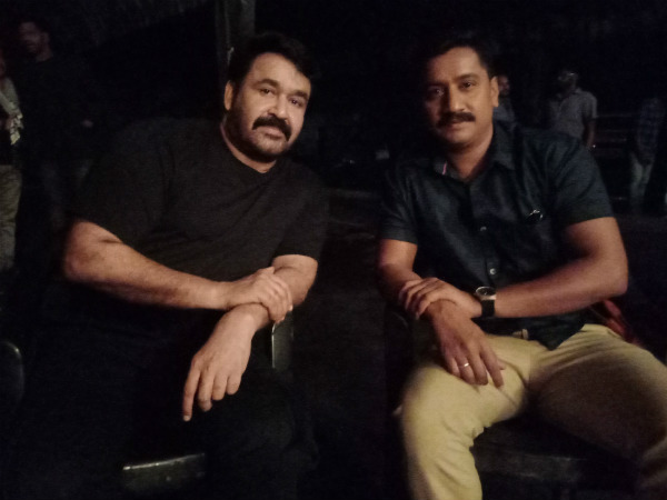 Actor Sanchari Vijay Met Mohanlal