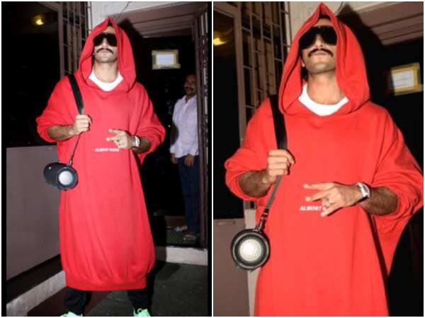 Ranveer Singhs Oversized Red Hoodie Look Leaves Kid Crying