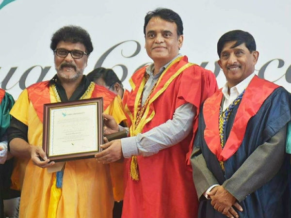 Actor Ravichandran Honored With Doctorate