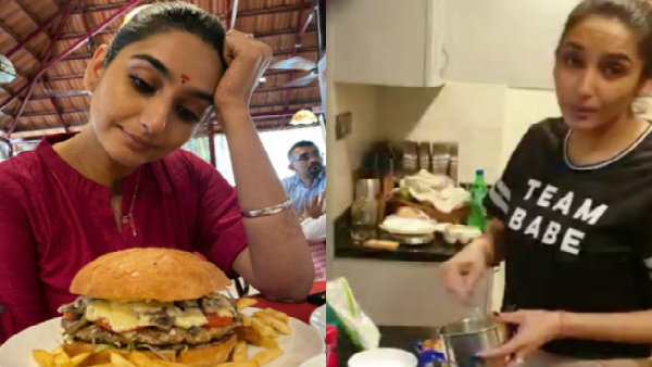 ragini-dwivedi-experiments-in-kitchen-tries-out-lays-chips-omlet