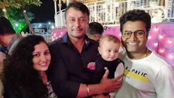 Rishab Shetty Baby Ranvith With Challenging Star Darshan