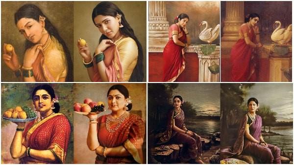 ರಾಜಾ ರವಿವರ್ಮ ಪ್ರಸಿದ್ಧ ಕಲಾಕೃತಿಗಳಿಗೆ ಜೀವ ತುಂಬಿದ ತೆಲುಗು ನಟಿಯರು