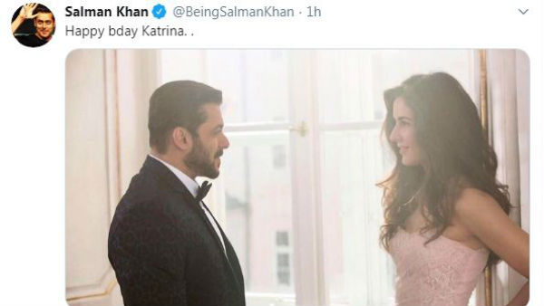 Salman Khan Birthday Wishes To Actress Katrina Kaif