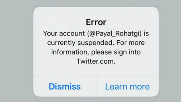 Actress Payal Rohtagis Twitter Account Suspended