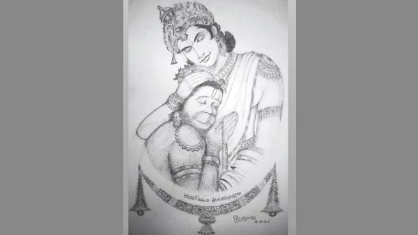 ರಾಮ-ಹನುಮನ ಈ ಮನಮೋಹಕ ಚಿತ್ರ ಬರೆದಿರುವುದು ಖ್ಯಾತ ಹಾಸ್ಯನಟ