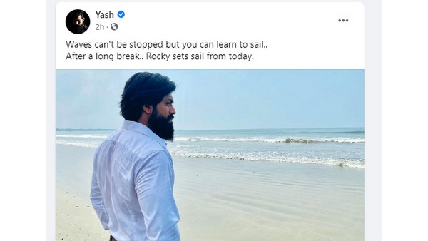 Yash Resumes Shooting of The KGF Chapter 2 From Today, Shares pic from the shooting set