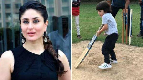 IPLನಲ್ಲಿ ಅವಕಾಶ ಇದ್ಯಾ?: ಬ್ಯಾಟ್ ಹಿಡಿದು ಫೀಲ್ಡ್ ಗೆ ಇಳಿದ ನಟಿ ಕರೀನಾ ಪುತ್ರ