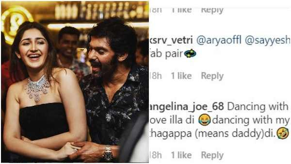 Netizens Troll Actor Arya and his wife Sayyesha for their age gap