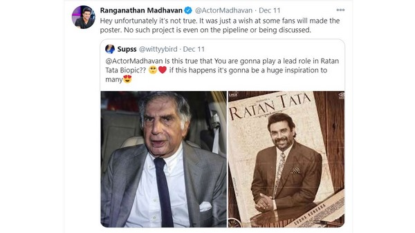 R Madhavan Reaction About Playing the lead in Ratan Tatas Biopic
