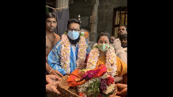 ಕೊರೊನಾದಿಂದ ಗುಣಮುಖ: ಕಾಮಾಕ್ಷಿ ದೇವಿಯ ದರ್ಶನ ಪಡೆದ ಶರತ್ ಕುಮಾರ್