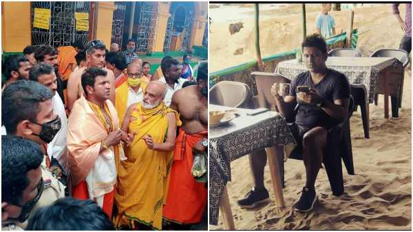 Puneeth Rajkumar visits Gokarna and perform special pooja