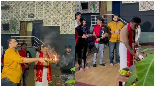'ರಾಬರ್ಟ್' ಪ್ರದರ್ಶನಕ್ಕೂ ಮುಂಚೆ ಚಿತ್ರಮಂದಿರದಲ್ಲಿ ಸಿನಿಮಾತಂಡದಿಂದ ವಿಶೇಷ ಪೂಜೆ