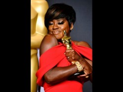 Hollywood Actress Viola Davis Receives Her First Oscar After Being Nominated Thrice