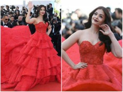 In Pics Aishwarya Rai Bachchan S Second Outing At The Red Carpet Is Red Hot
