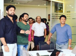 Puneeth Inaugurated Rakshith Shetty S New Production Office