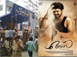 Mersal Movie Show Cancelled In Sampige Theater