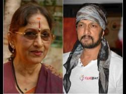 Bharathi Vishnuvardhan Expressed Displeasure Over Sudeep