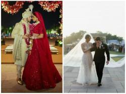 In Pics Priyanka Chopra Nick Jonas Christian And Hindu Wedding