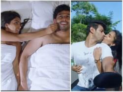 Kannada Actress Samyuktha Hegde Lip Lock Scene Viral In Social Media