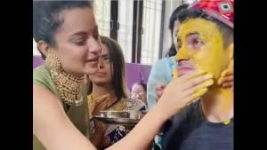 ಕಂಗನಾ ಮನೆಯಲ್ಲಿ ಮದುವೆ ಸಂಭ್ರಮ: ಅಕ್ಕ-ತಂಗಿಯರು ಸಖತ್ ಮಿಂಚಿಂಗ್!